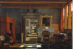 gaëlle josse,autrement,de witte,intérieur avec femme jouant du virginal,delft,tableau